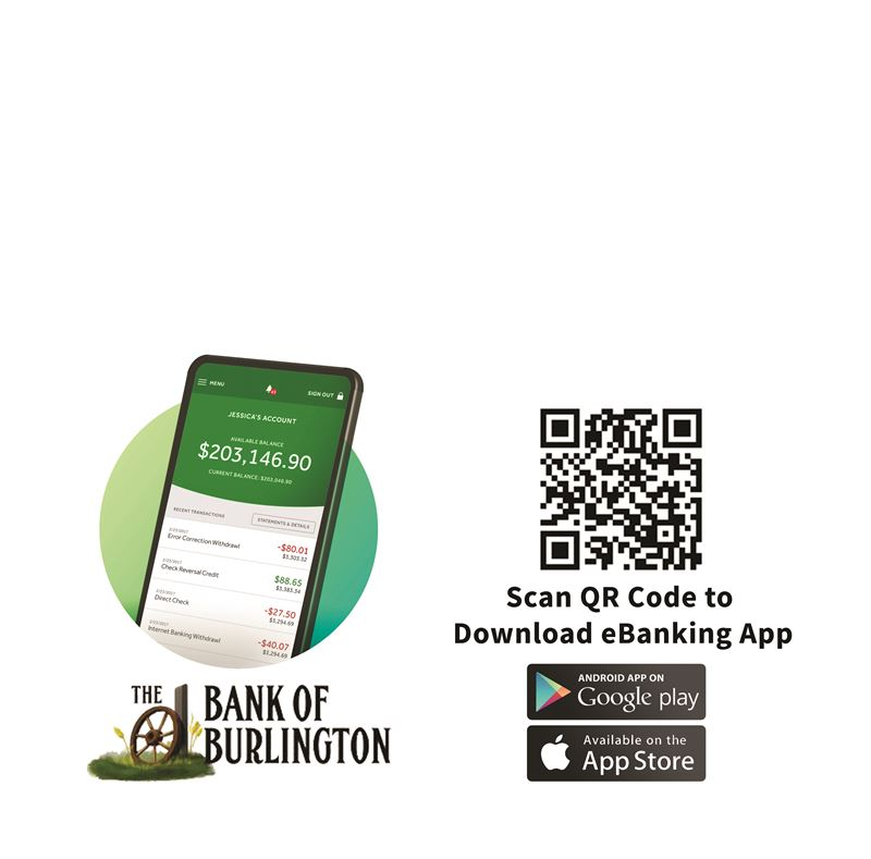 Bank of Burlington App Scan QR